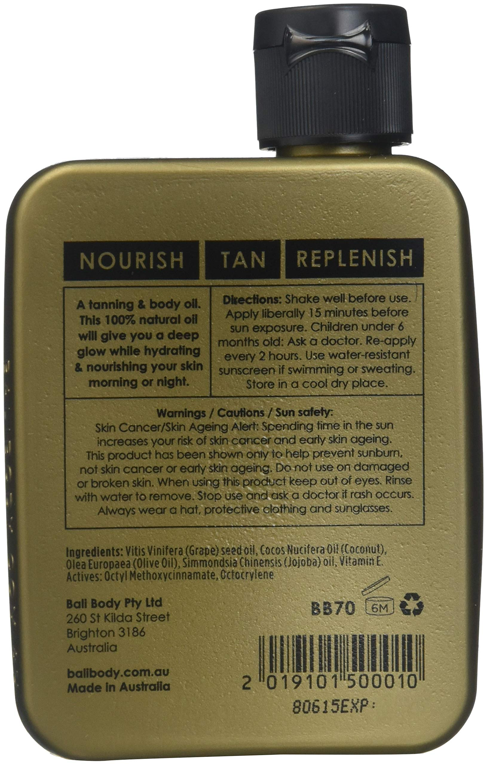 BALI BODY ORIGINAL NATURAL TANNING AND BODY OIL 110 ml by Bali Designs (Image #2)