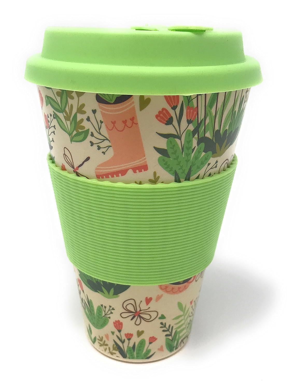 Quy Cup Lot de 3 tasses /à caf/é en bambou avec couvercle et /étui en silicone
