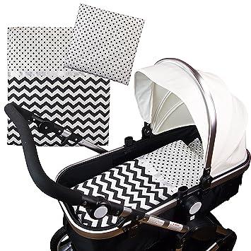 4-tlg.Set Baby Bettwäsche Decke Kissen für Kinderwagen Stubenwagen Wiege