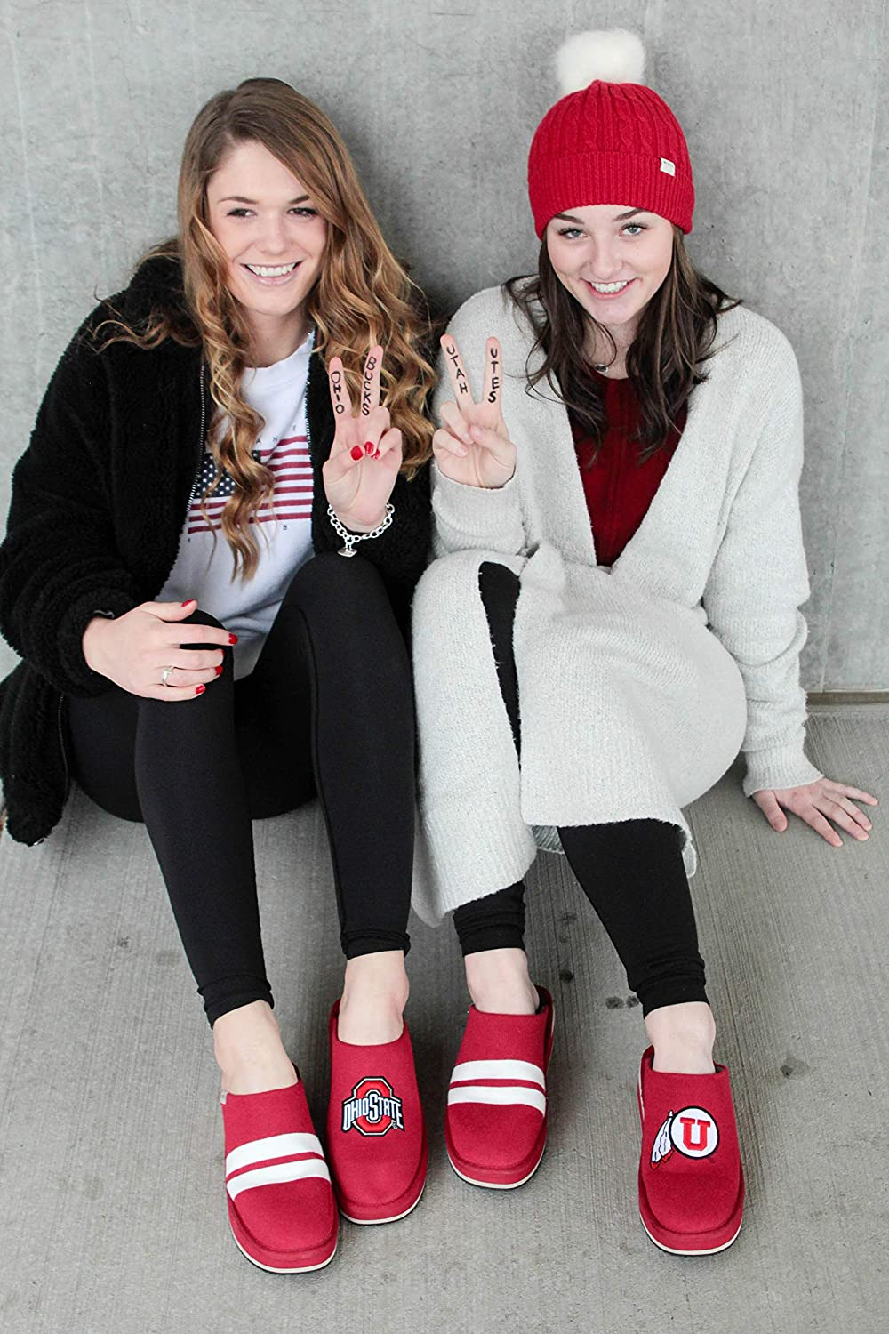 Stanford Cardinal Spirit Wear Perfect for Indoor and Outdoor Wear Zenzee NCAA College Spirit Wear Slip-On Mule Style Knit Platform Shoes for Women Available in Sizes 6-10