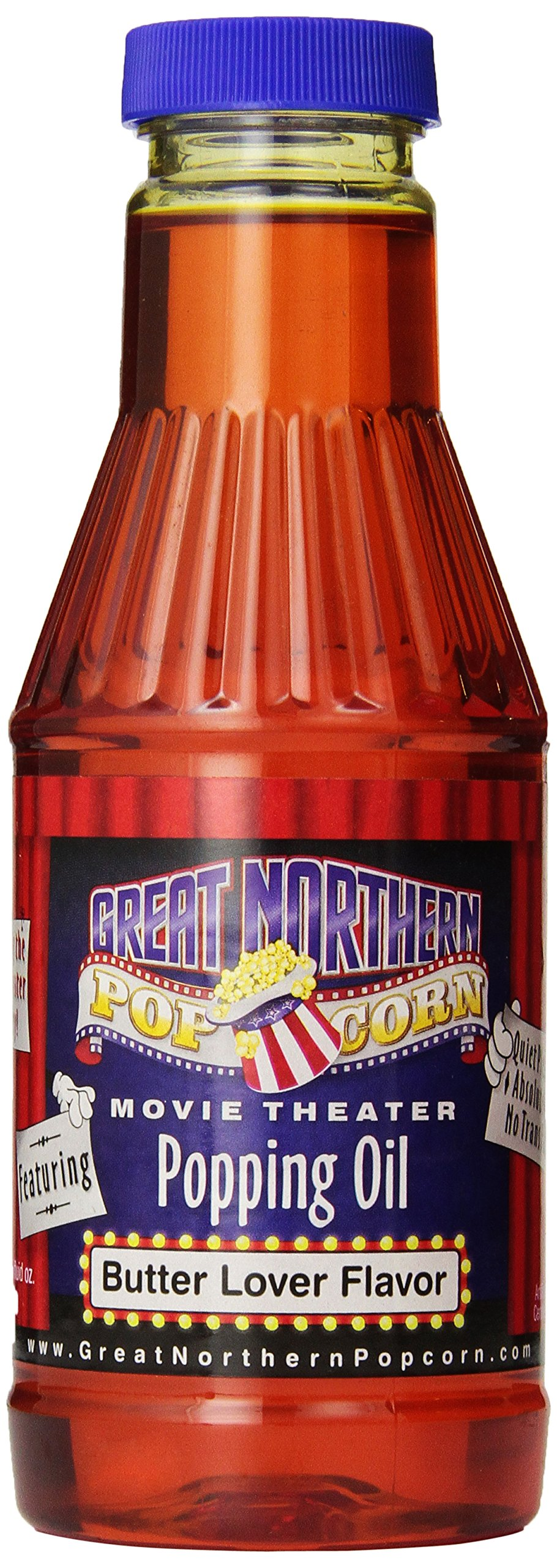 Great Northern Popcorn Premium Butter Flavored Popcorn Popping Oil, Pint ''