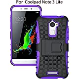 Heartly Rugged Shock Proof Tough Armor Back Case For Coolpad Note 3 Lite ( 5 Inch ) - Frame Purple