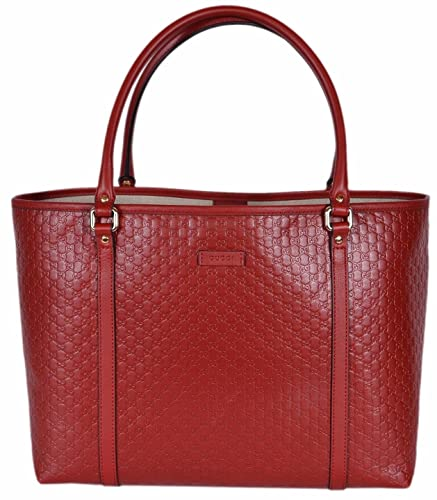 df730909700 Amazon.com  Gucci Women s Leather Micro GG Guccissima Joy Purse Tote (Red  449647)  Shoes