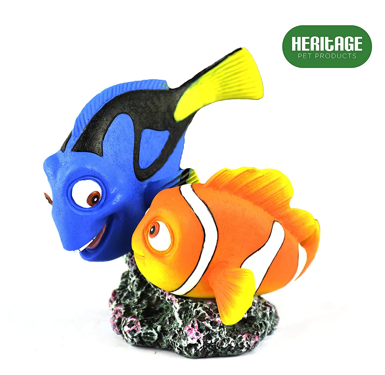 Heritage HCL154 - Figura decorativa pintada a mano para acuario, diseño de pez de Nueva York y Dory Clown y Tang, 10 cm: Amazon.es: Productos para mascotas