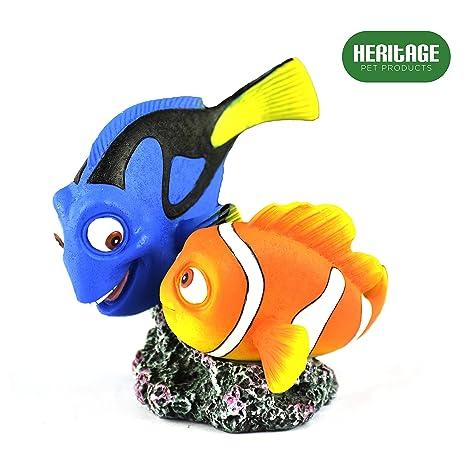 Heritage HCL154 - Figura decorativa pintada a mano para acuario, diseño de pez de Nueva
