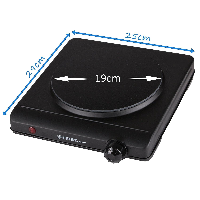 Placa de infrarroja | 1250 W | superficie de cocción 19 cm | apta para cualquier batería de cocina | 300°C en 30 segundos | Placa de cocción individual ...