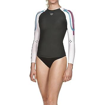 6a7e80f2f Arena Women's Carbon Long Sleeve Compression Baselayer Shirt, Womens, Damen  Kompressions Langarm Shirt Carbon