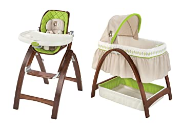 Summer Infant Bentwood High Chair U0026 Bassinet With Motion