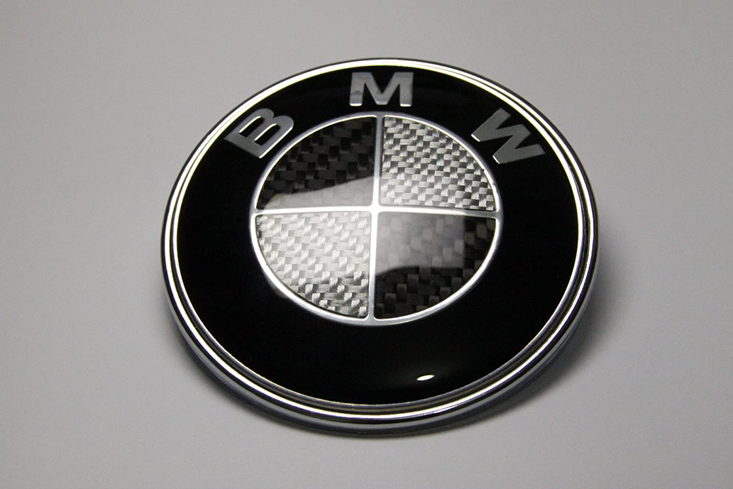 New 7pcs X Carbon Fiber Black Silver Emblem Logo For Bmw