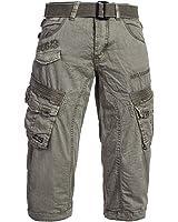 Gangster Unit by Geographical Norway Herren Cargo 3/4 Hose Shorts Short Bermuda Petrol