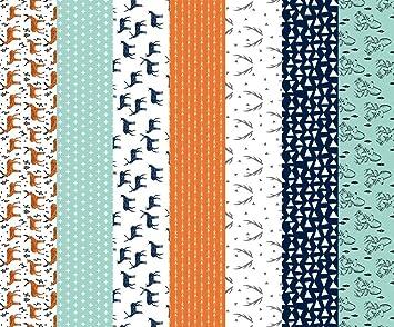 Amazon.com: Antlers Fabric - Deer Quilt Fabric Cheater Quilt ... : orange quilt fabric - Adamdwight.com