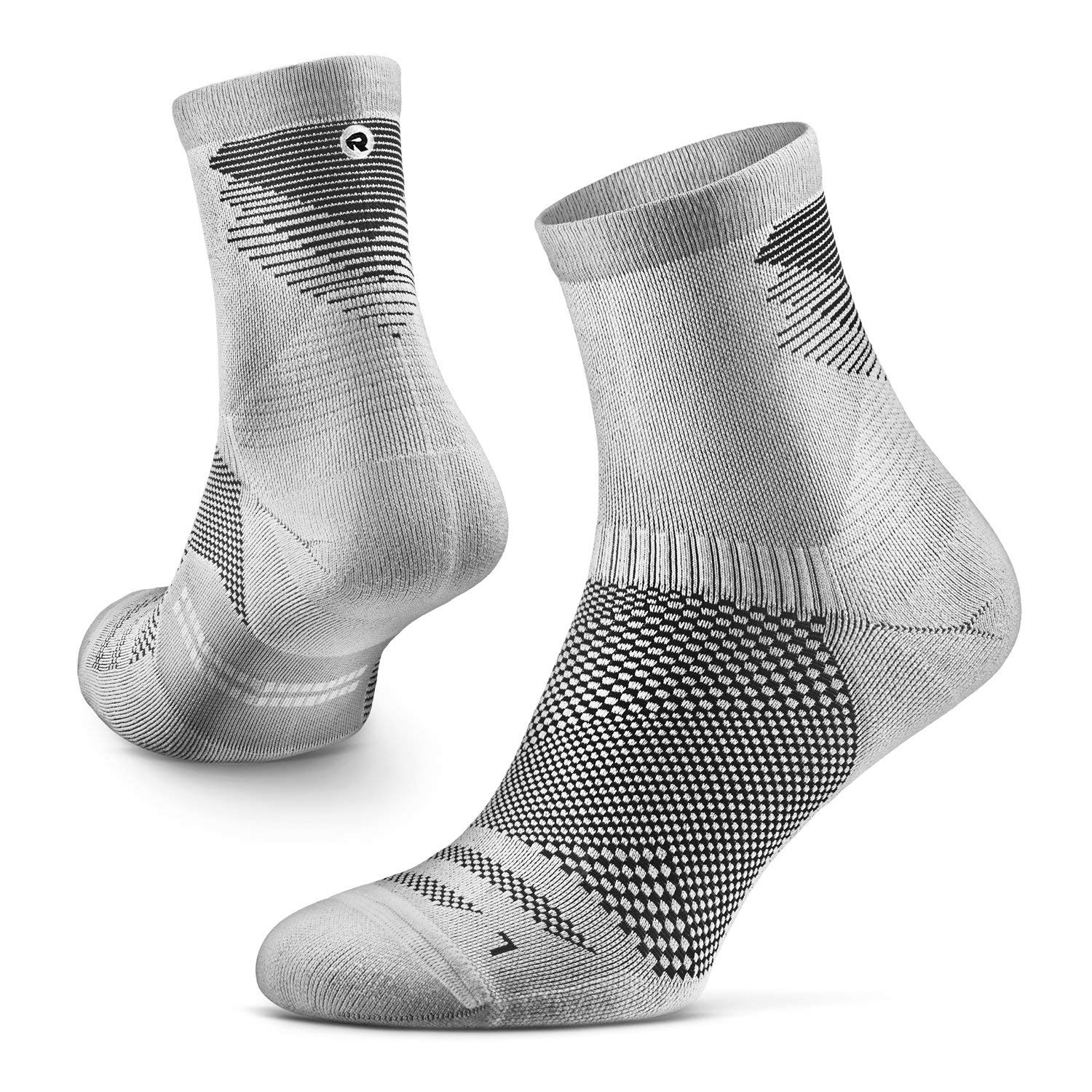 1 Pair Arch Support Anti-Odor Cushion Rockay Razer Trail Running Socks for Men and Women Crew Cut 100/% Recycled