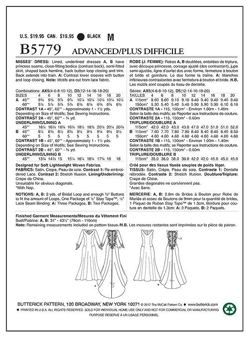 Butterick BTK 5779 D5 (12-14-16-18-20) B5779 Schnittmuster zum Nähen ...