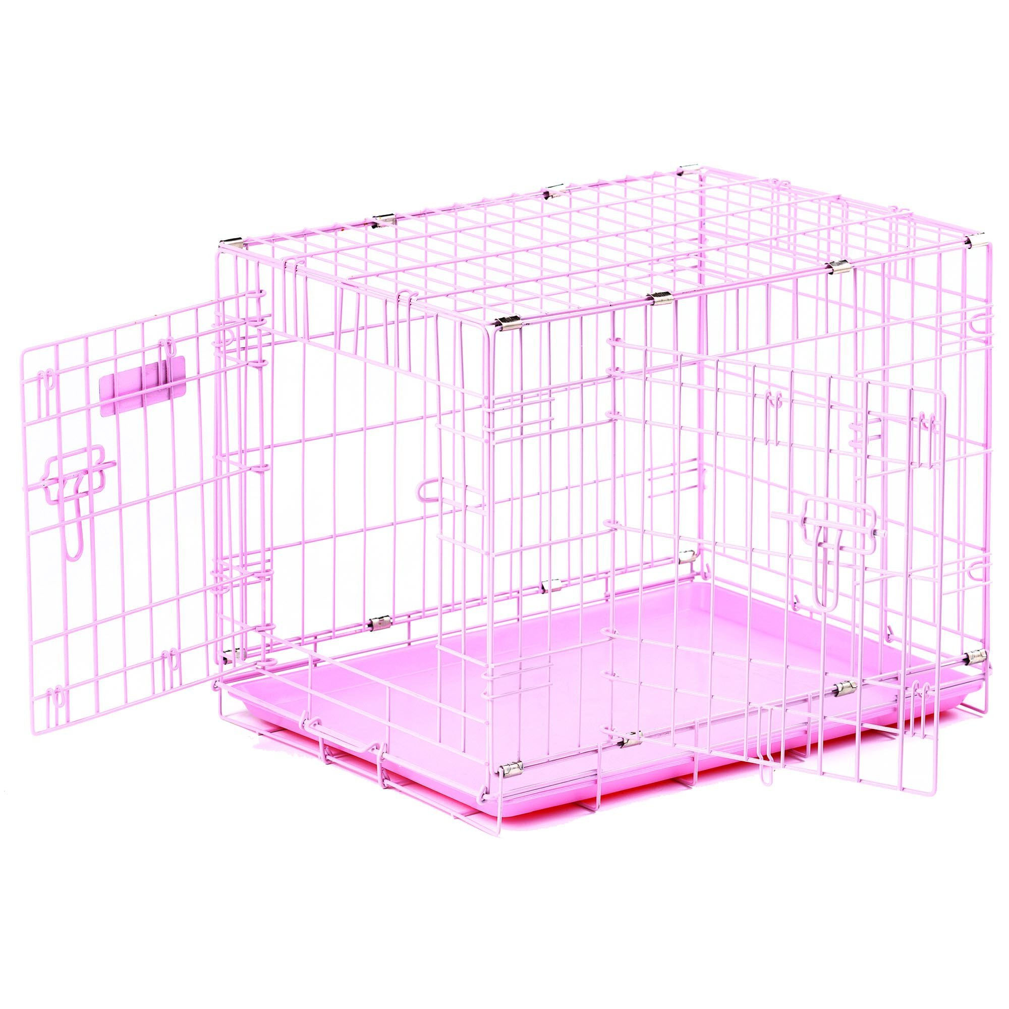 Precision Pet ''ProValu,'' Double Door Dog Crate Pink by Petmate