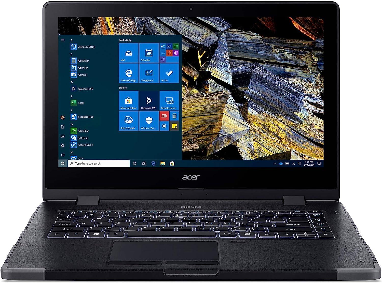 "Acer Enduro N3 EN314-51W-53RR Rugged Laptop, 14"" Full HD IPS, 10th Gen Intel Core i5-10210U, 8GB DDR4, 256GB NVMe SSD, Intel Wireless Wi-Fi 6, Fingerprint Reader, Windows 10 Professional"