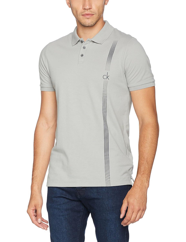 Calvin Klein Polan Polo SS, Azul (Griffin), X-Large para Hombre ...