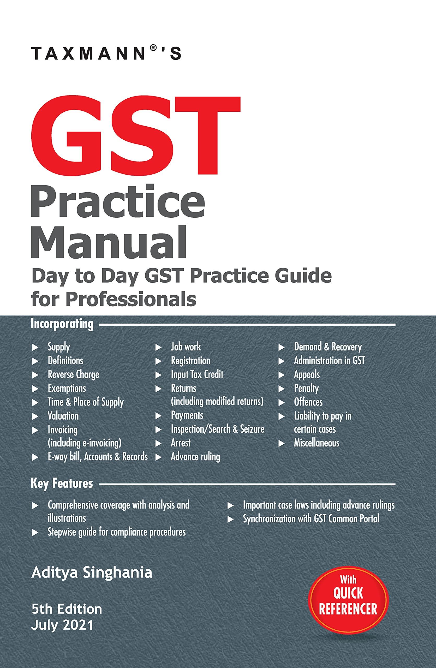 Taxmann GST Practice Manual 2021