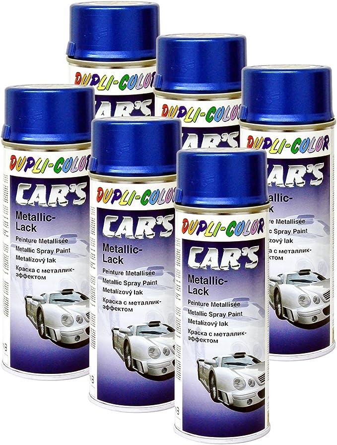Dupli Bundle 6x Dupli Color Cars Metallic Lack Spray Azurblau 400 Ml 706837 Auto