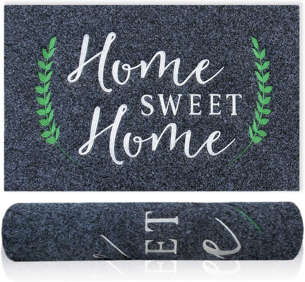 Welcome Mat Outdoor Indoor Home Sweet Home Doormat Non Slip Natural Rubber Backing Super Absorb Mud Easy to Clean High Traffic Areas Door Mats for Home Entrance