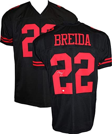 new arrival 8cf86 24013 Authentic Matt Breida Autographed Signed Football Jersey ...