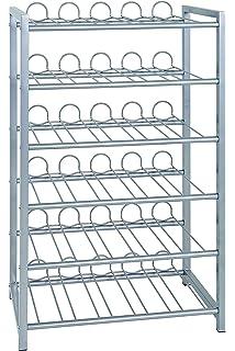 Metaltex 383748099 Flaschenregal Für 48 Flaschen 58 X 26 X 83 Cm