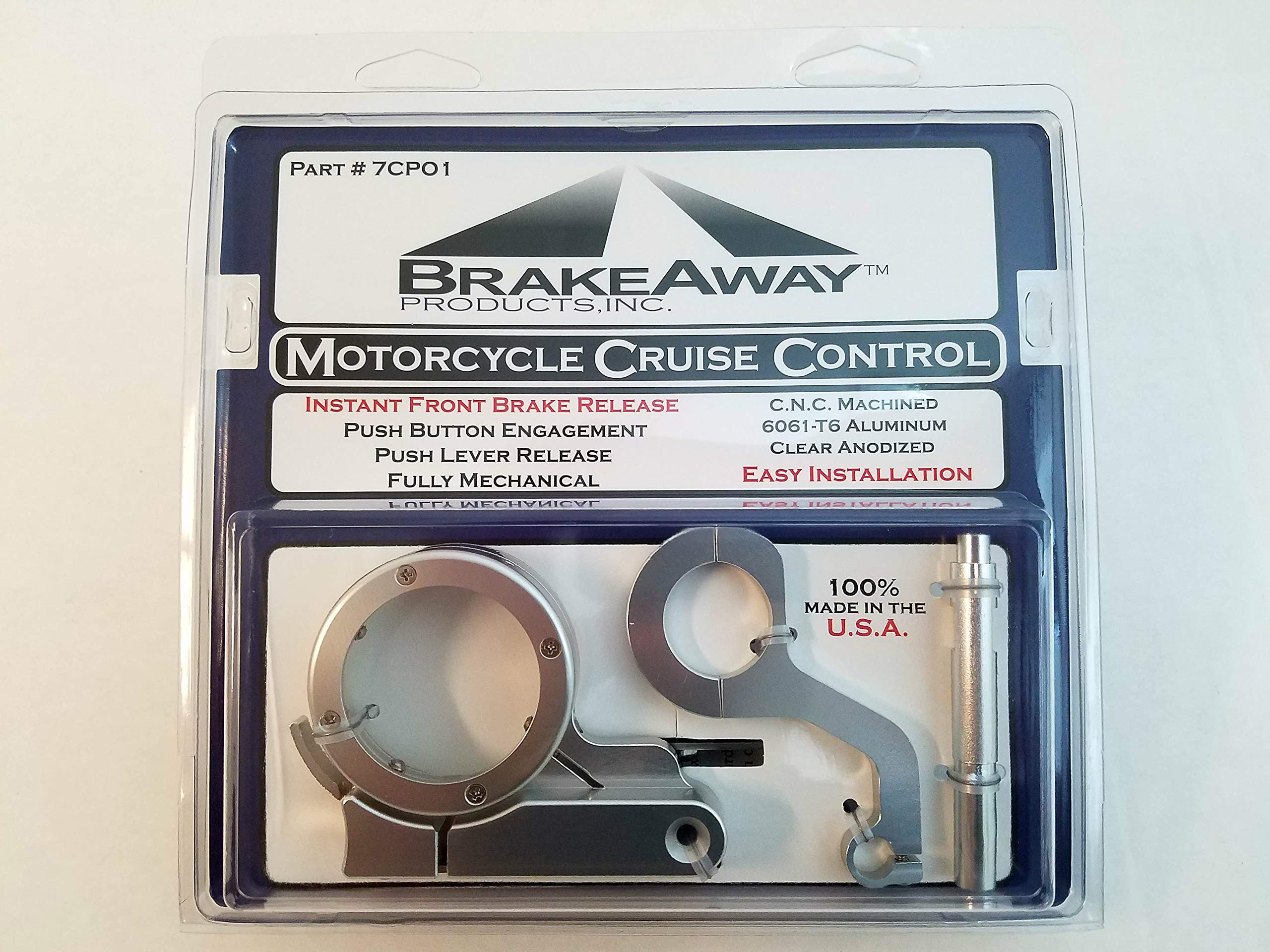 7CP01 BrakeAway Motorcycle Cruise Control Throttle For Metric Cruisers