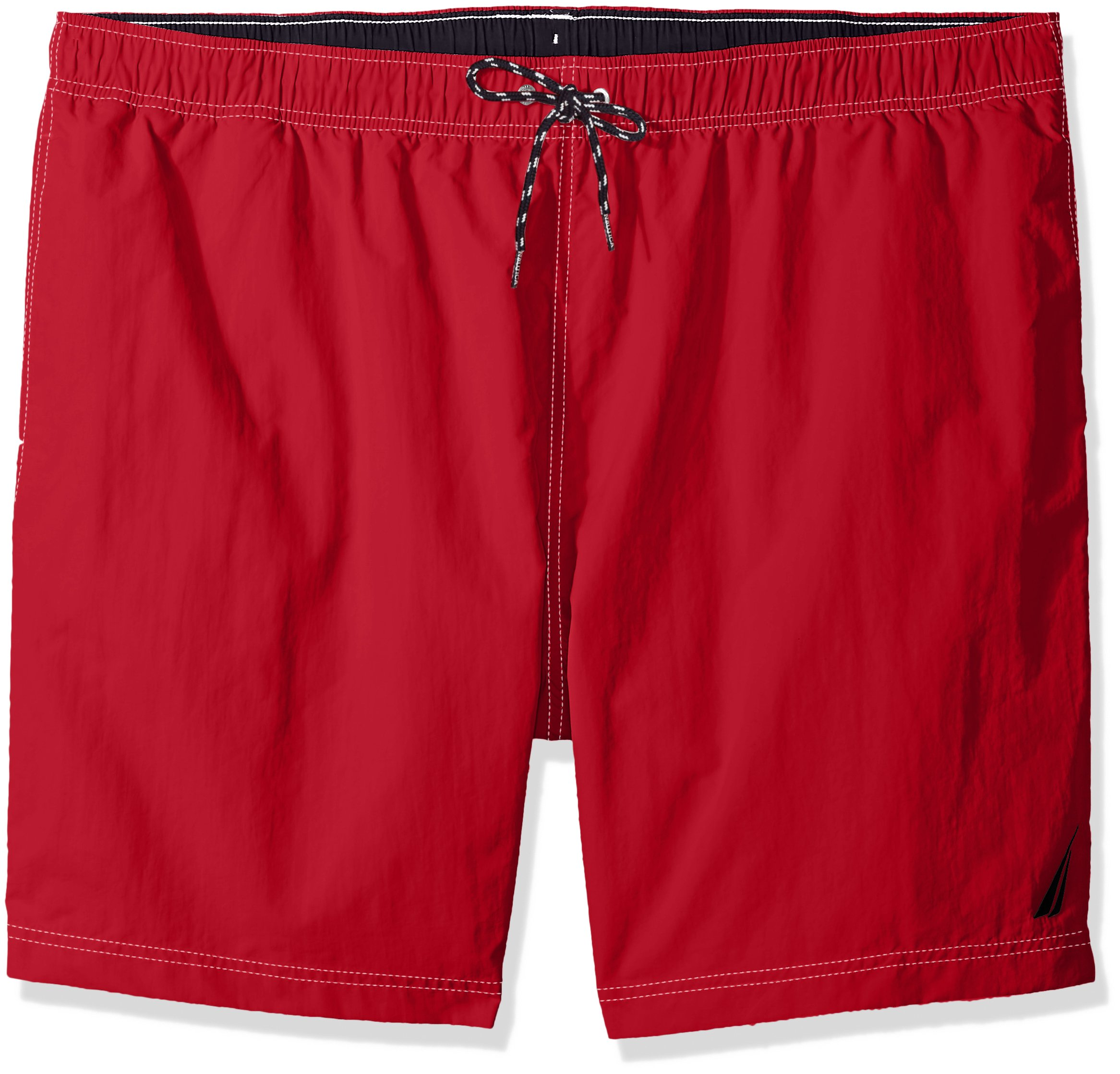 e88c650bf0 Galleon - Nautica Men's Big And Tall Solid Quick Dry Classic Logo Swim Trunk,  Red, 2XLT