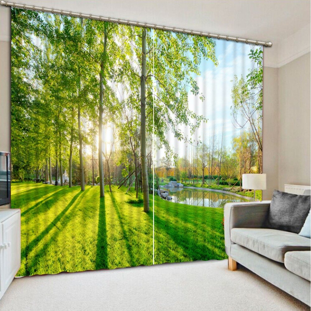 Sproud 3D Printing Curtains Lifelike Blackout Cortians Beautiful Full Light Shading Bedroom Livng Room Curtains 240Dropx300Wide(Cm) 2 pieces