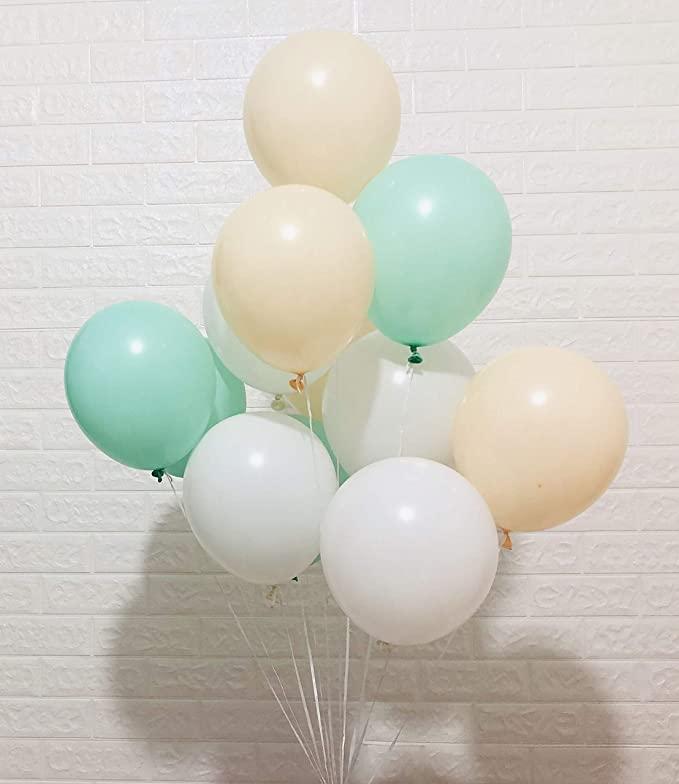 Mint Green Balloons Deluxe Latex Made in USA Tiny Big Balloon Wedding bridal party  shower baby 5 11 16 Pearl Mint Balloon