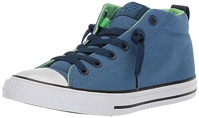 d7b87fbe4288 Converse Boys  Street Fundamentals Mid Top Lace Up Sneaker Nightfall  Blue Navy 1 M