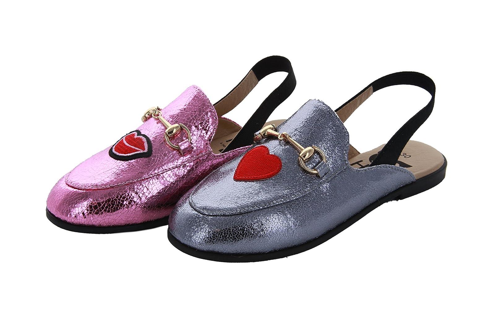 Hoo Shoes - Girls Mule/Slide - Metallic - Fashion - 1