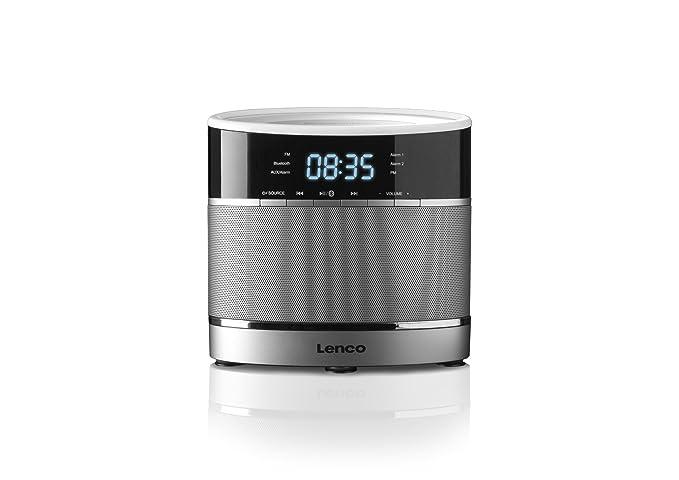Lenco CR-3306 BT - Radio despertador (FM, Bluetooth, USB), plata [importado]: Amazon.es: Electrónica