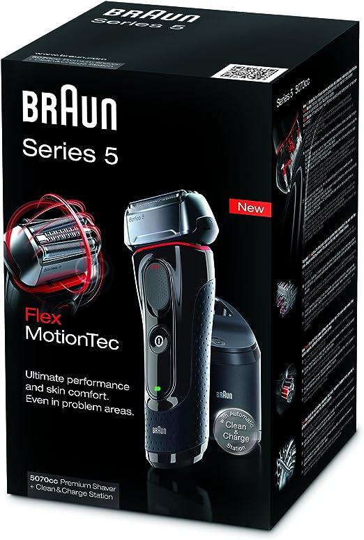 Braun 5070 Serie 5 - Afeitadora con cabezal basculante, cuchillas ...