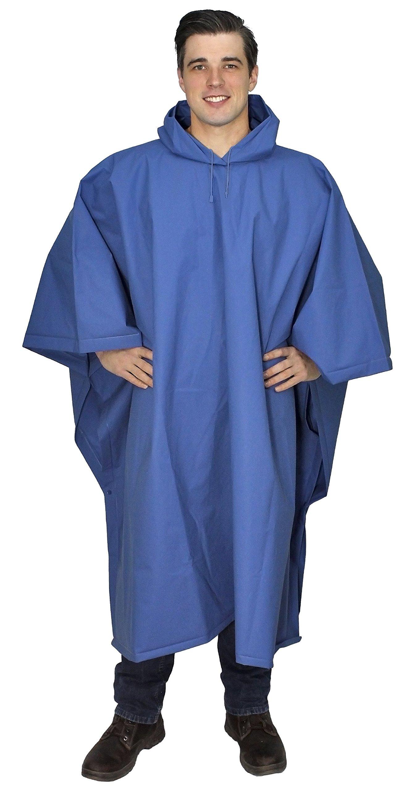 Galeton 12714-BL Repel Rainwear XL & Tall .22mm EVA Poncho (Big & Tall), One Size, Blue