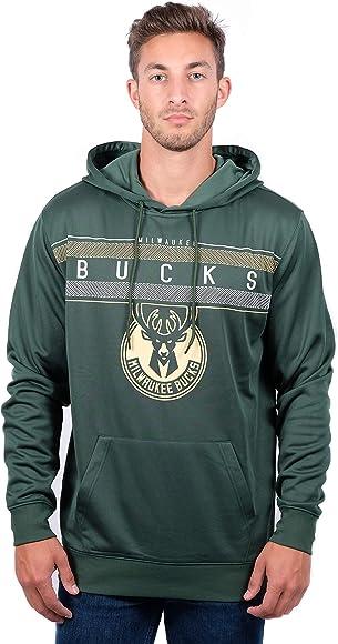 sale retailer 98612 cc08d NBA Milwaukee Bucks Men's Fleece Hoodie Pullover Sweatshirt Midtown,  XX-Large, Hunter Green