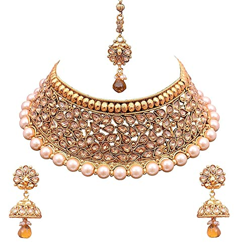 583d6db97a7f5 Sitashi 18K Gold Plated Necklace Set For Women