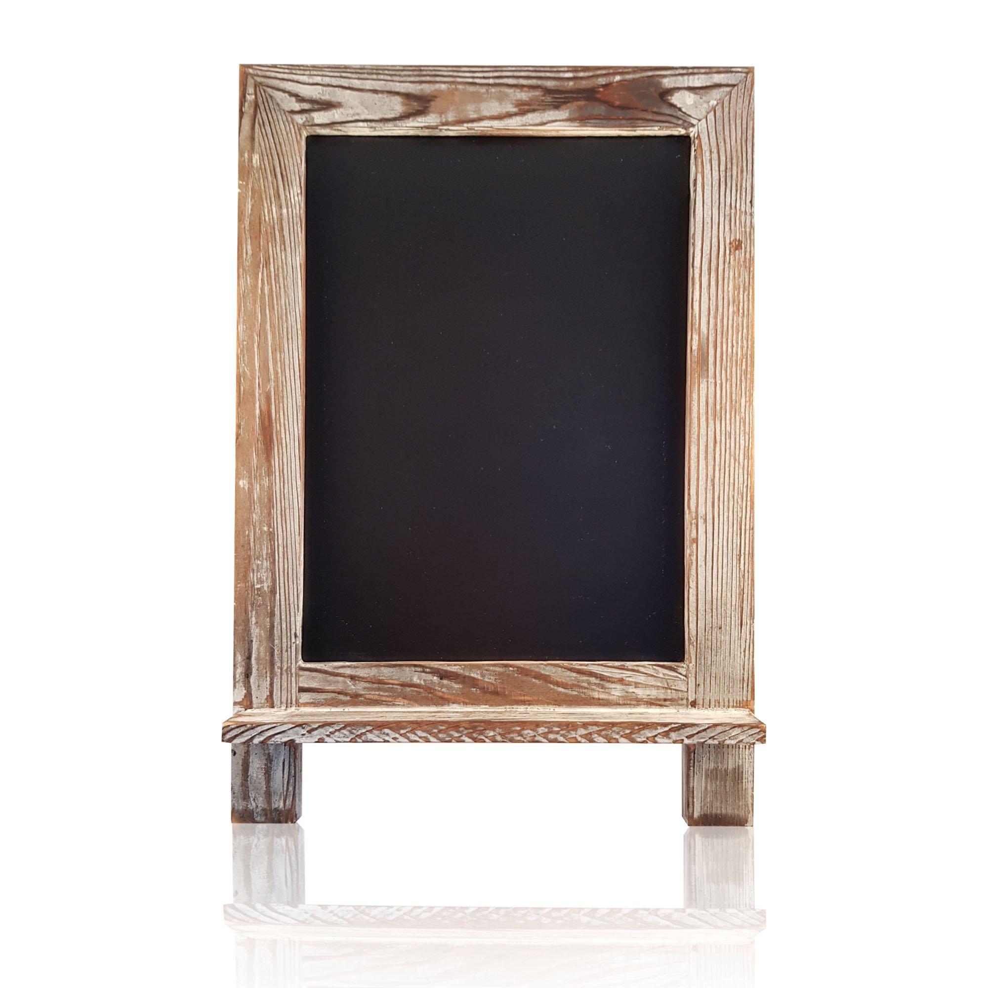 One Happy Home Rustic Chalkboard Whitewashed 14'' x 9.5''