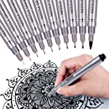 MISULOVE Precision Micro-Line Black Fineliner Ink Pens, Waterproof Archival Ink Multiliner Pens for Artist Illustration…