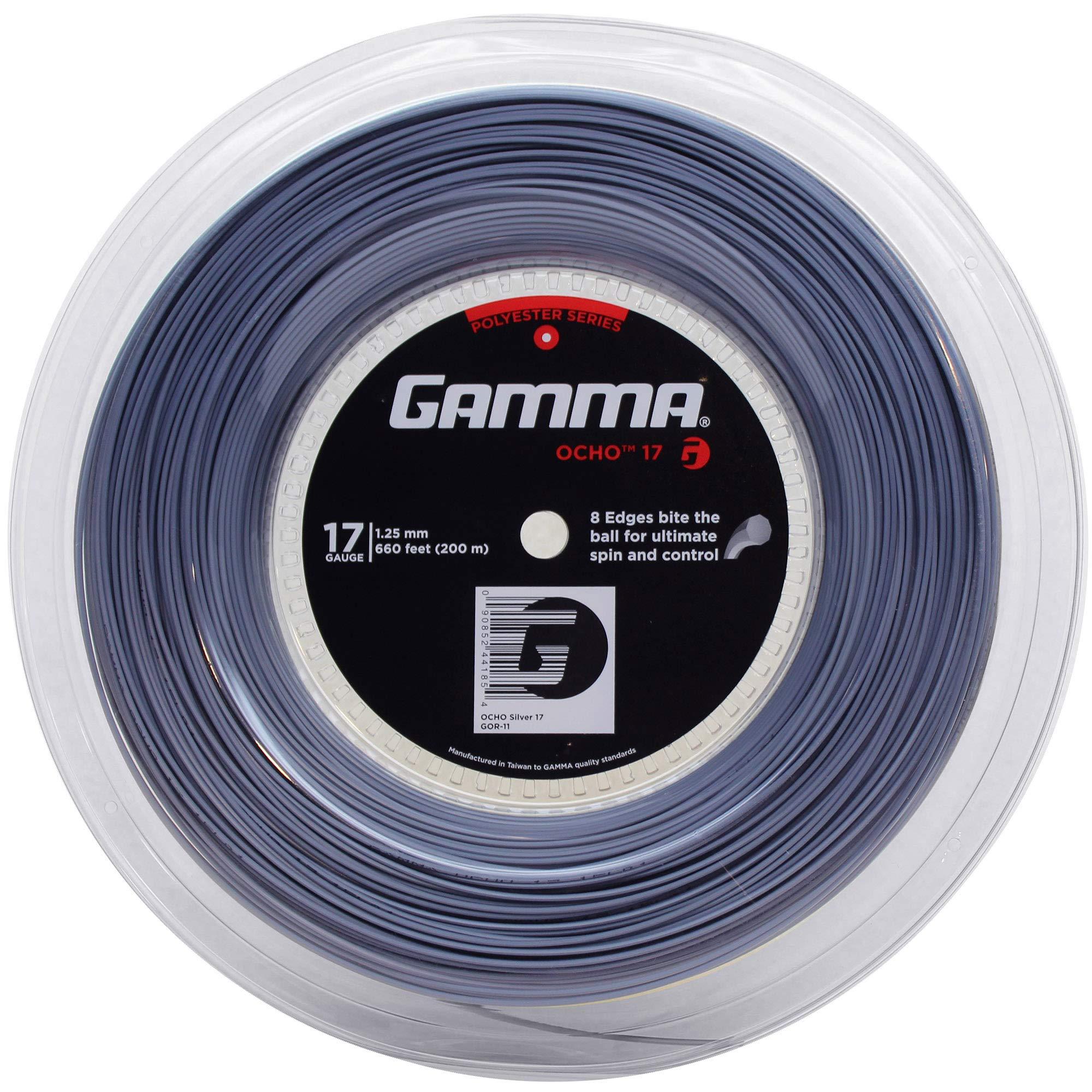 Gamma Ocho 17G Tennis String Reel Silver
