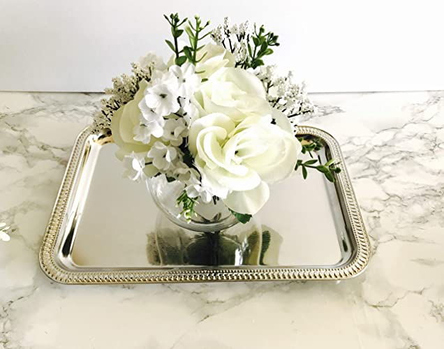 wedding centerpiece with silver tray5 sets bridal shower decorationsbaby shower centerpiece