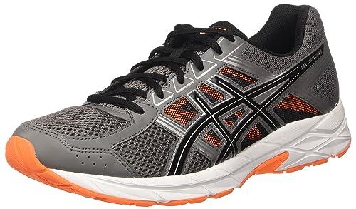 Asics Men's Gel-Contend 4 Sneakers, Grey (Carbon/Black/Hot Orange
