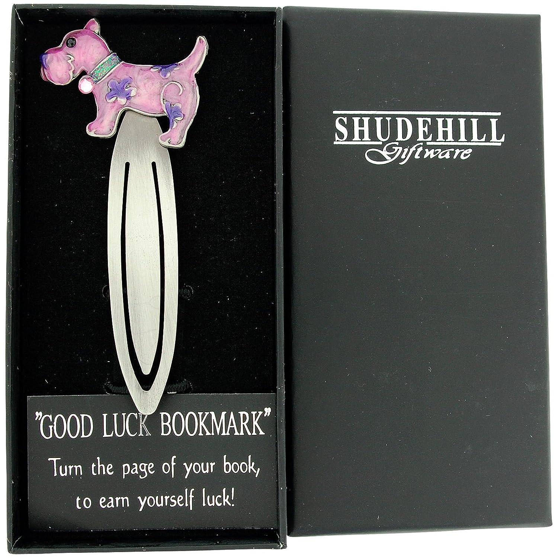 SC824 SHJ Jewel Pewter Pink /& Purple Scottie Dog Bookmark