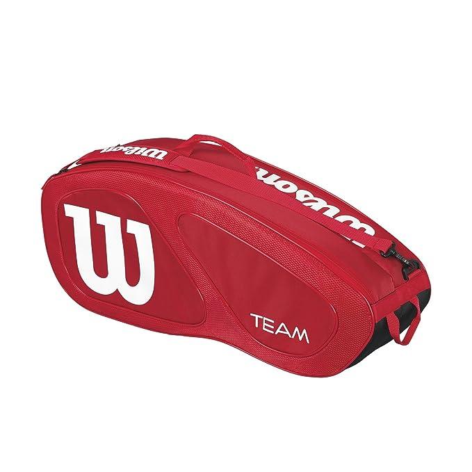 Wilson Bolsa de Tenis Unisex, para Todo Tipo de Jugador, Team II 3PK, Medida única, Azul, WRZ852603