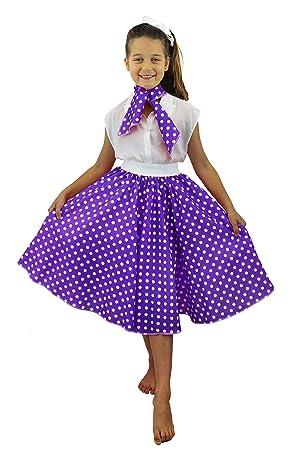 I Love Fancy Dress ilfd7078 Vestidos de niña con Falda de Lunares ...