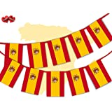 Spanish Full Flag Patriotic Themed Bunting Banner 12 Rectangular flags for guaranteed simply stylish party National Royal decoration by PARTY DECOR