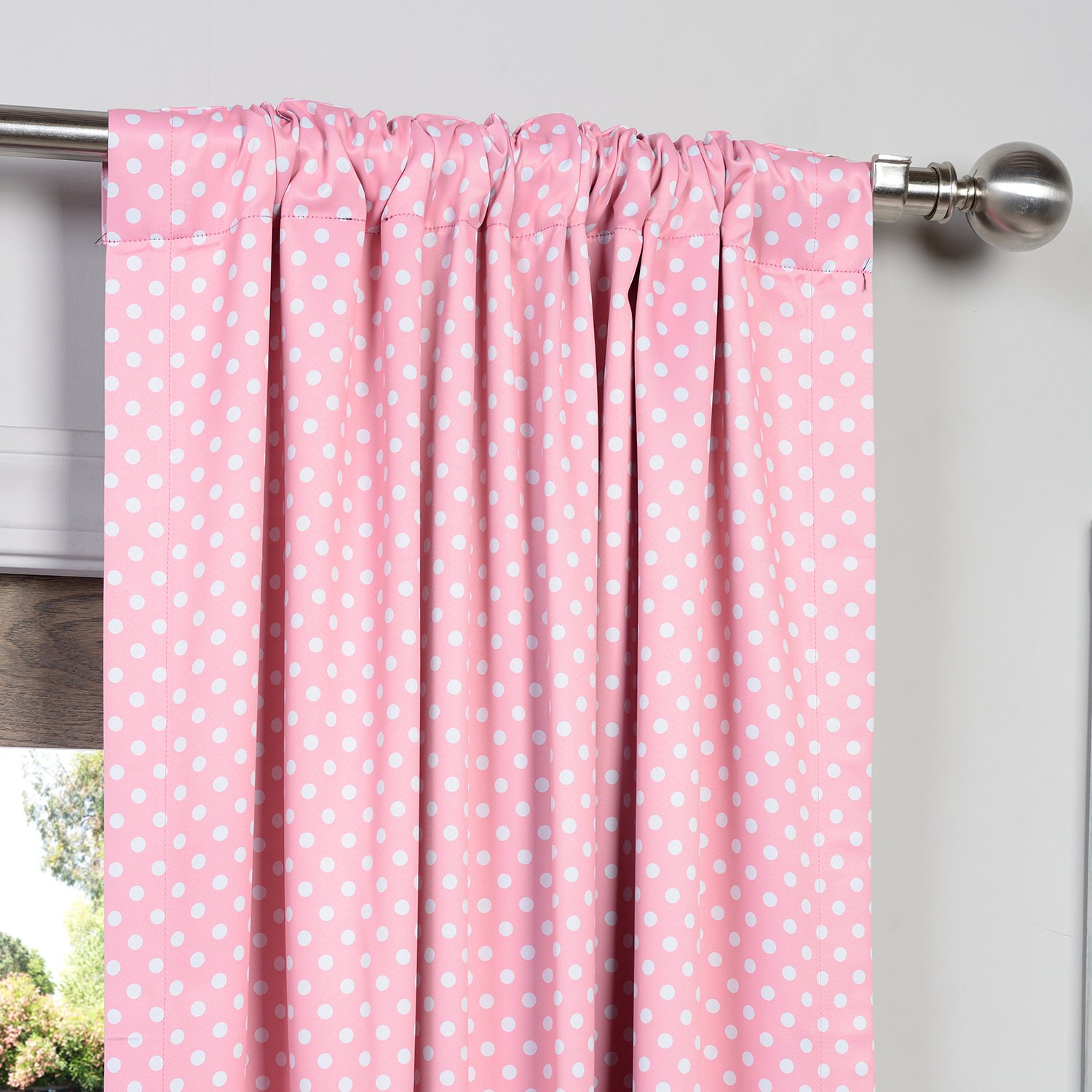 Amazon.com: Half Price Drapes BOCH KC91B 84 Blackout Curtain, Pink Polka Dot:  Home U0026 Kitchen