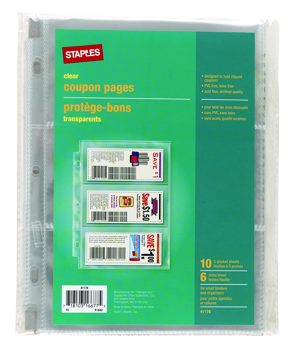 Staples color printing coupon code - Amazon Com Staples 3 Pocket Heavy Duty Coupon Pages Clear 5 X 8 10 Pack 41178 Kitchen Dining