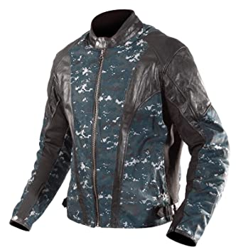 6215d85aa AGVSport - Nomad Naval Camo-Leather Jacket Black Size X-Large ...