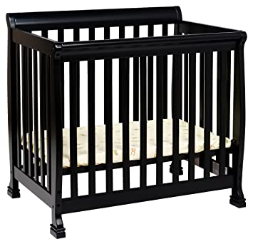 Amazon.com : DaVinci Kalani 2-in-1 Mini Crib and Twin Bed In Ebony ...
