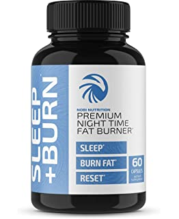 Night Time Fat Burner Pills - Weight Management Formula with Melatonin, Valerian Root and L